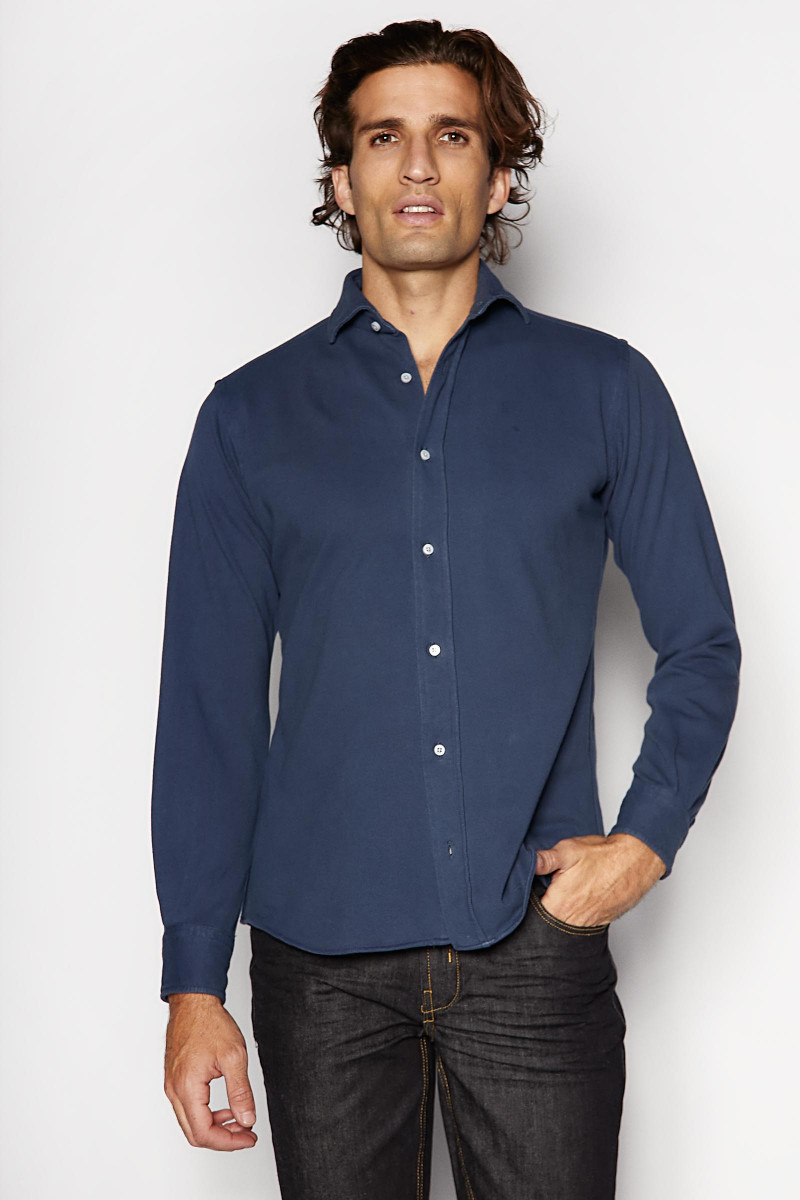 Camisa Azul Oscuro Alley Docks