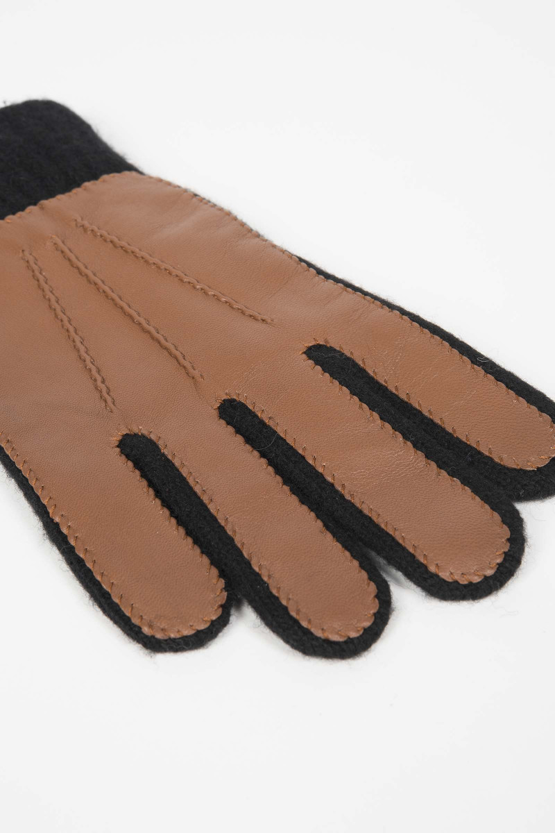 Leather-Brown Combination...