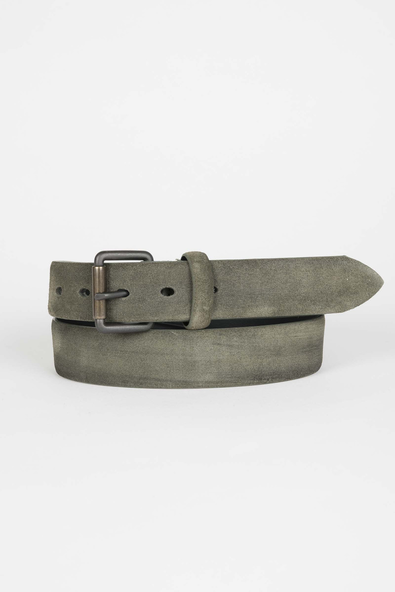 Green Suede Belt Eduardo Rivera