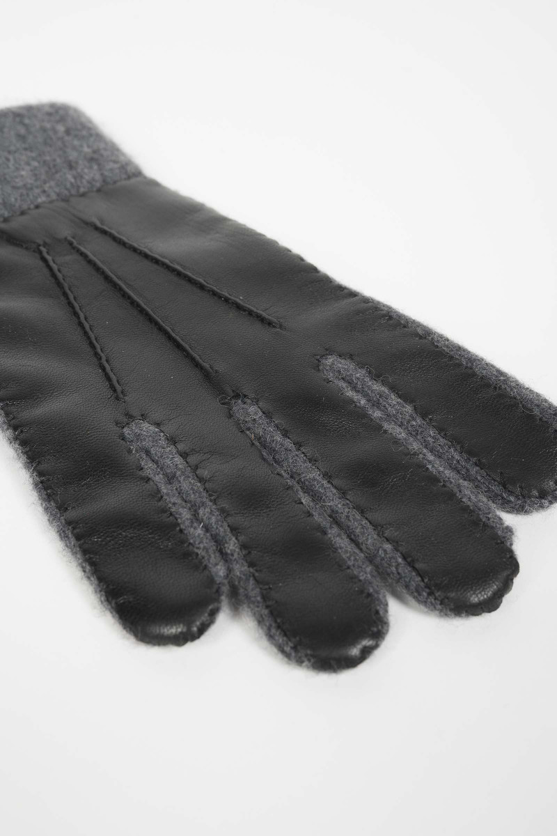 Black-Gray Combination Gloves