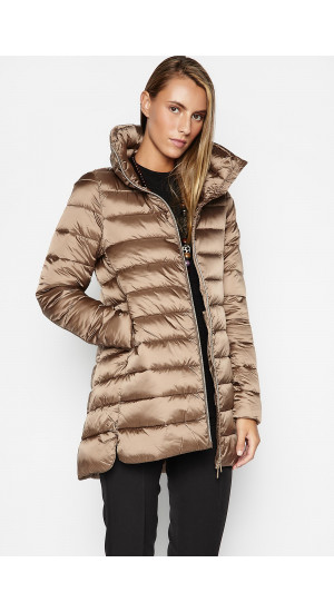Brown Down Coat Elisa Rivera