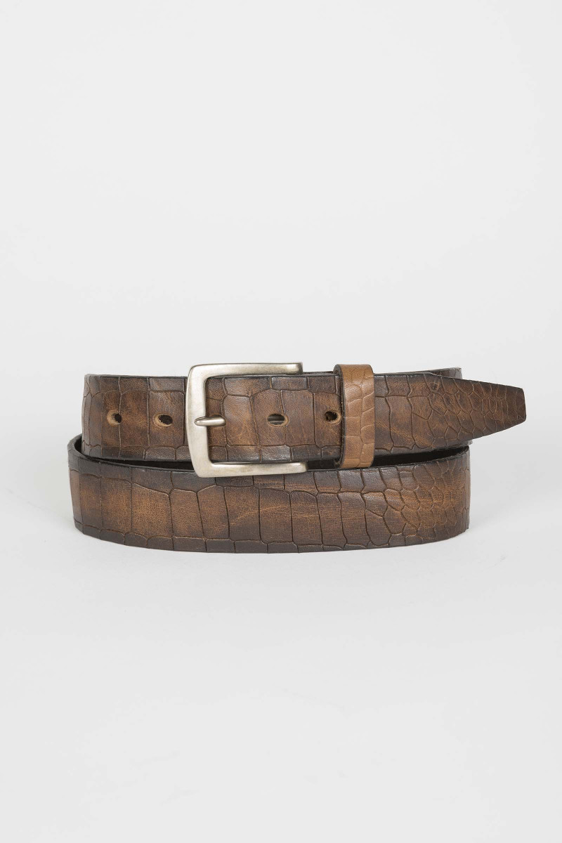 Tobacco Engraved Belt Eduardo Rivera