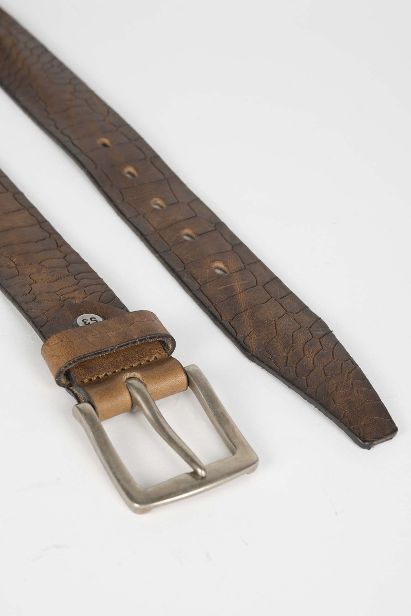 Tobacco Engraved Belt