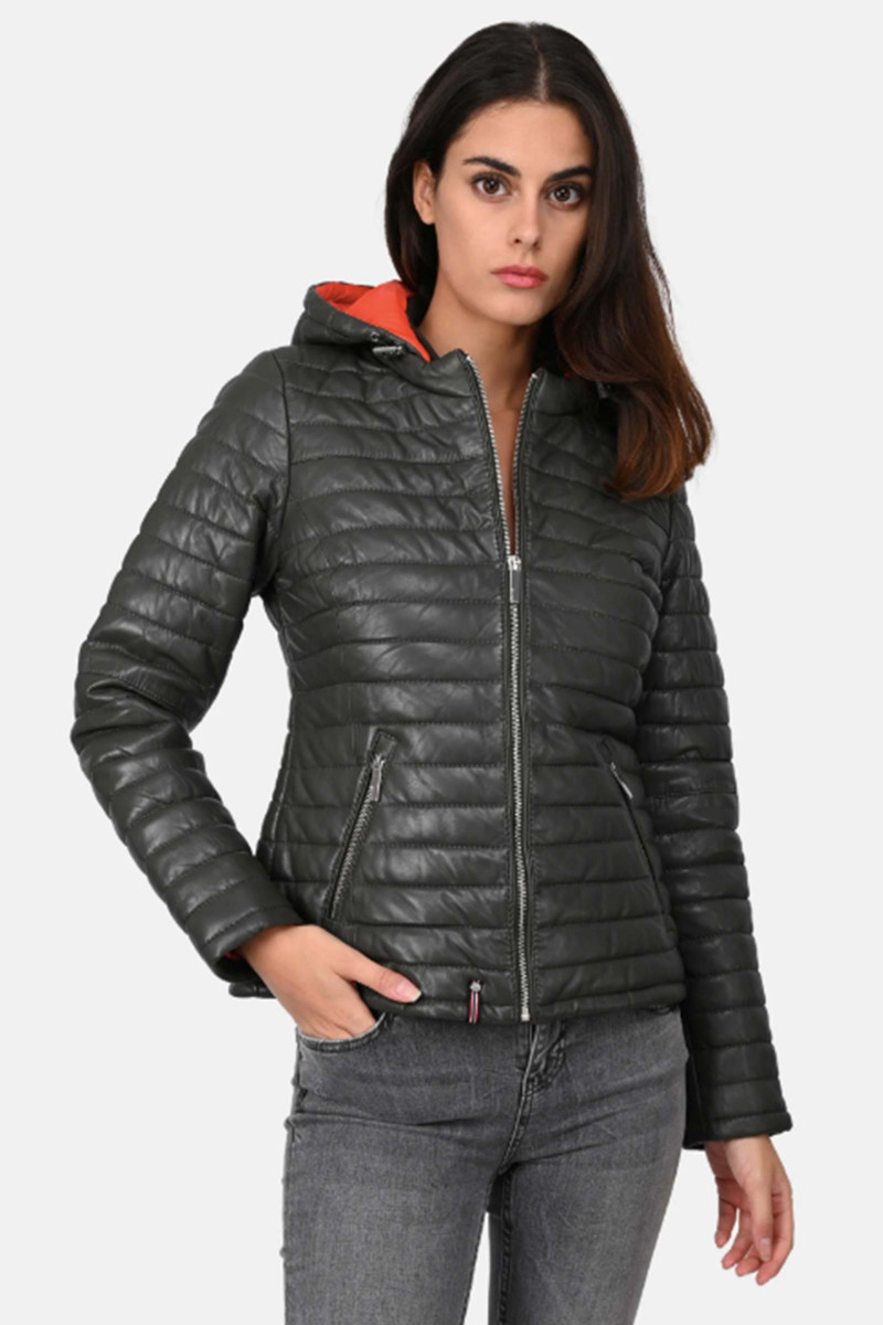Quilted Fur Down Jacket Elisa Rivera