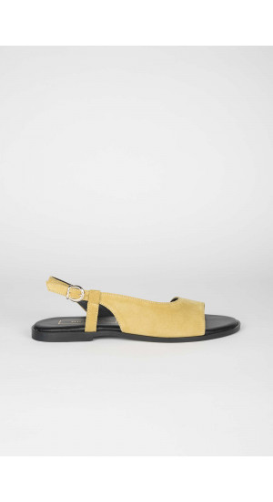 Lime Suede Sandals Elisa Rivera