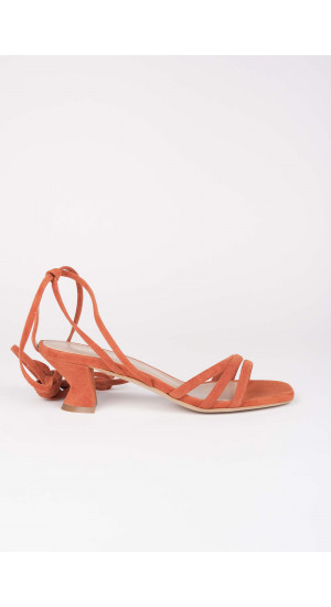 Orange Elise Strap Sandals Elisa Rivera