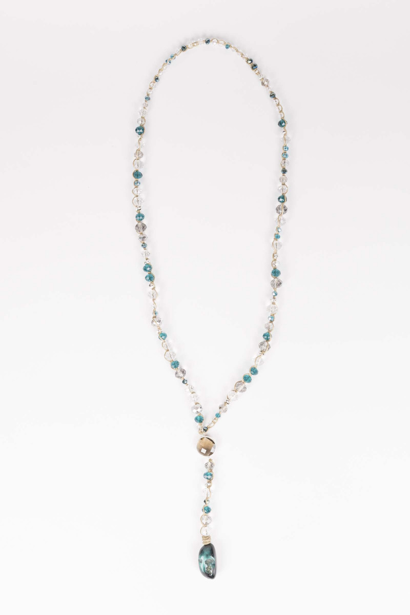 Cristal-Turquoise Necklace Elisa Rivera