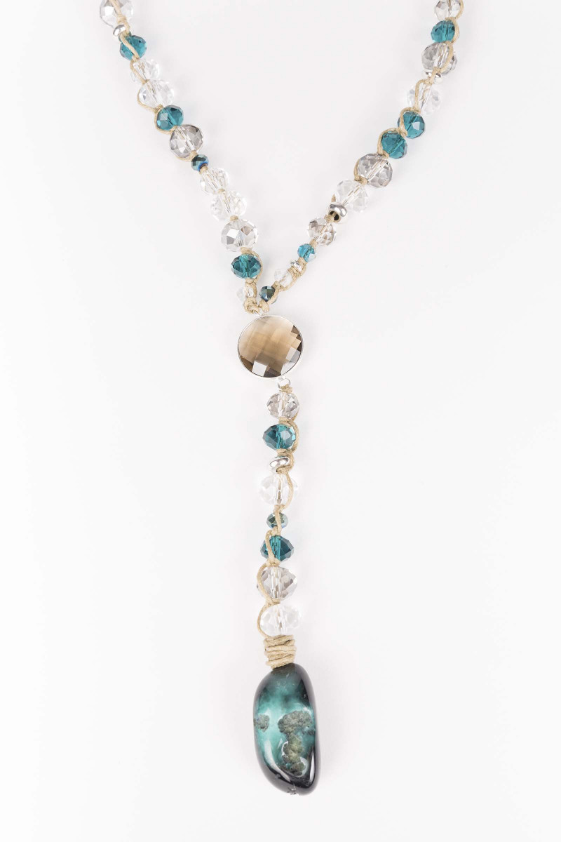 Cristal-Turquoise Necklace