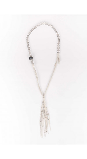 White Crystal Necklace Elisa Rivera
