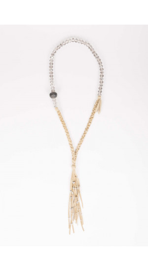 Beige Crystal Necklace Elisa Rivera