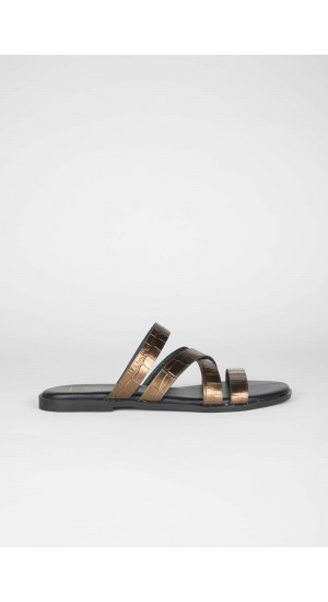 Copper Coco Sandals Elisa Rivera