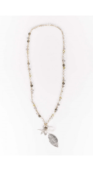 Crystal Feather Necklace Elisa Rivera