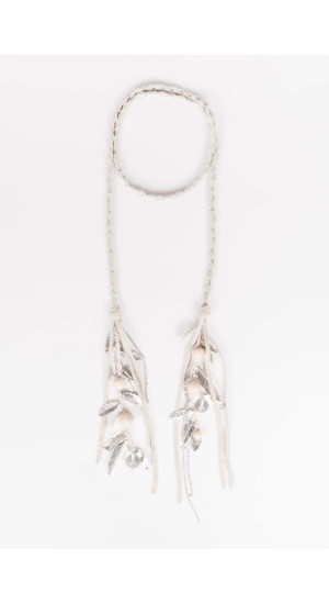 White Feathers Necklace Elisa Rivera