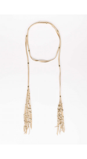 Beige Suede Necklace Elisa Rivera