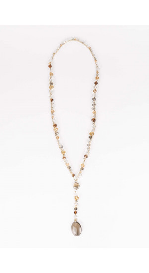 Brown Crystals Necklace Elisa Rivera