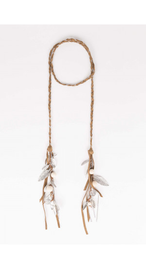 Brown Feathers Necklace Elisa Rivera