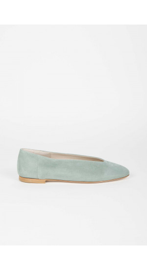 Light Green Suede Ballerina Elisa Rivera