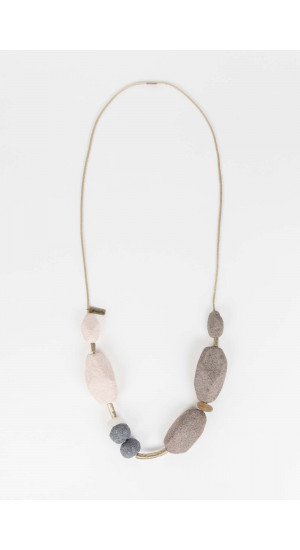 Gray-Natural Necklace Elisa Rivera