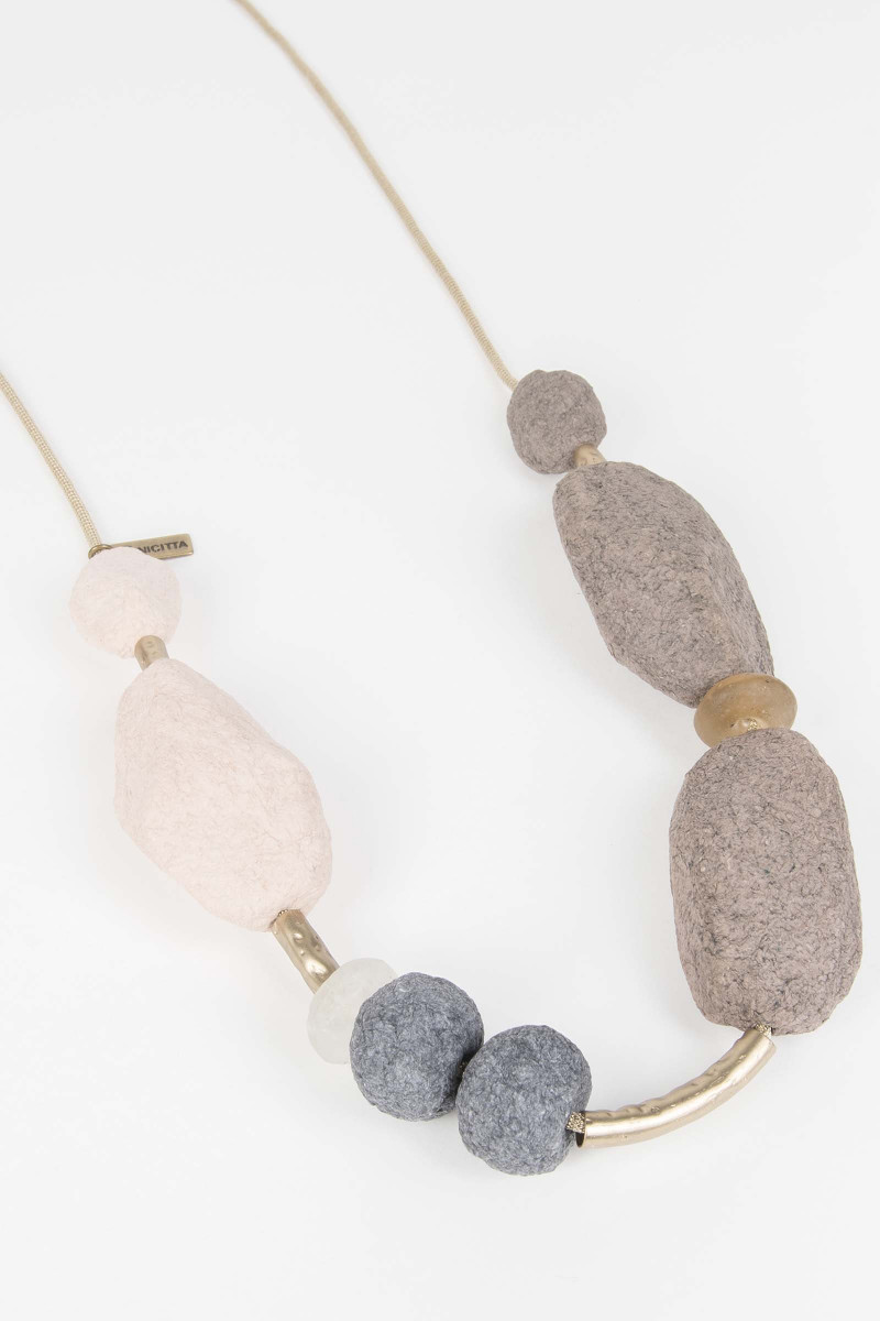 Gray-Natural Necklace