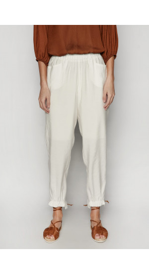White Simbad Pants Elisa Rivera