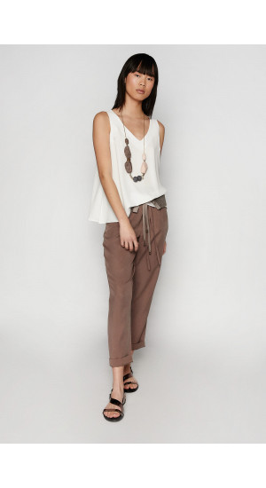 Taupe Carter Pants Elisa Rivera