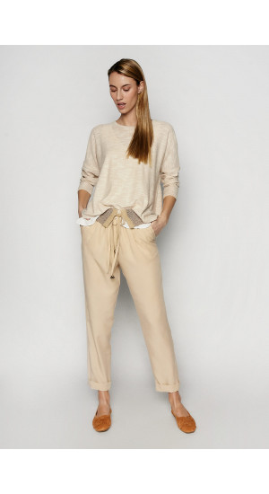 Cream Carter Pants Elisa Rivera
