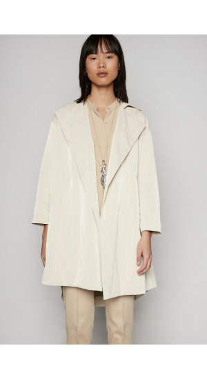 Stone Tecno Trench Coat Elisa Rivera