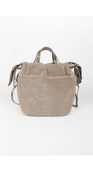 Taupe-Bronze Bag Elisa Rivera
