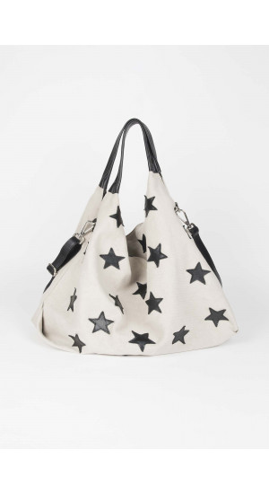 White-Black Stars Bag Elisa Rivera