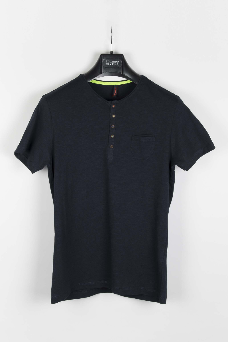 Blue Cotton Polo Shirt Eduardo Rivera
