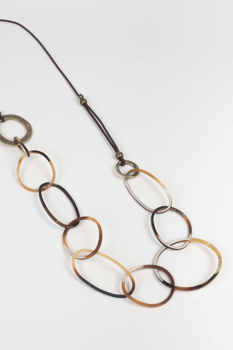 Brown Links Necklace