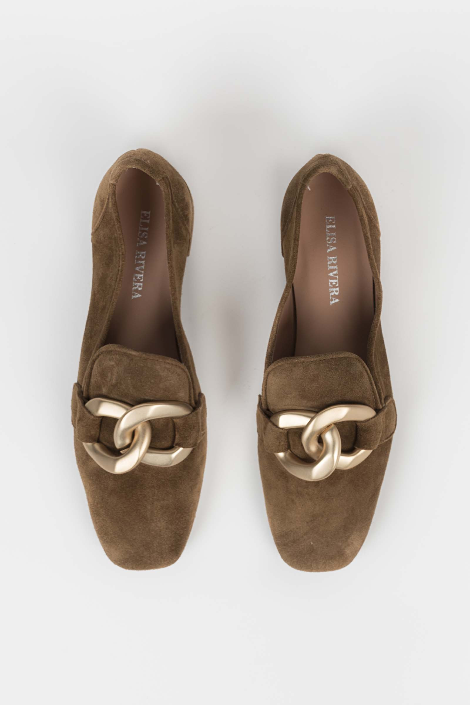 gold chain moccasin