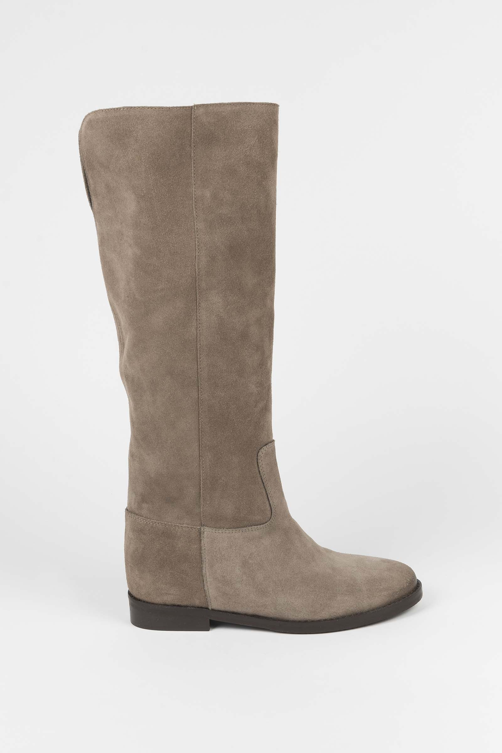 Taupe Suede Boots Elisa Rivera