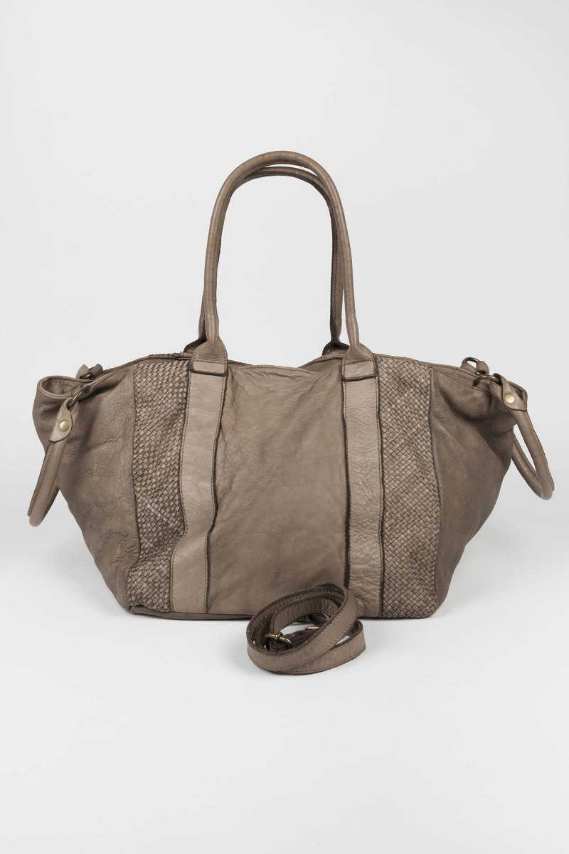 Taupe New York Leather Bag