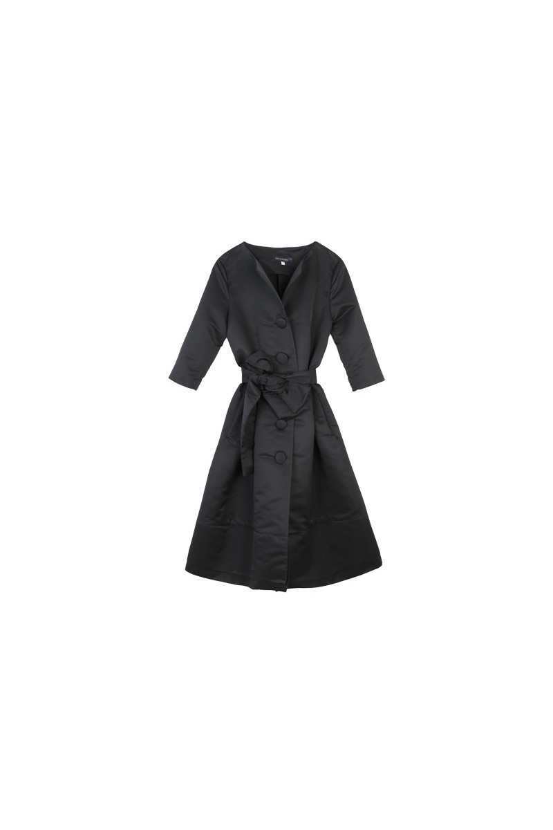 Trench coat / Dress G9 Black Elisa & Eduardo Rivera