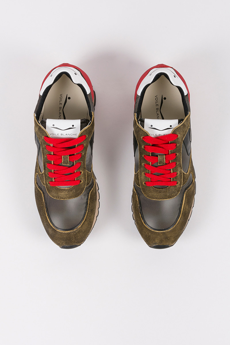 Zapatillas Liam Power Verde-Rojo