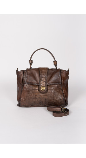 Bolso satchel marrón