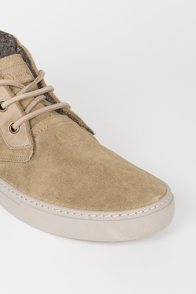 Botín Ante Beige lateral