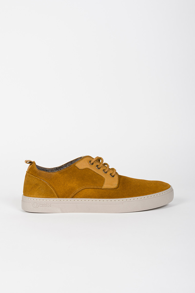 Mustard Color Suede Sneakers cover