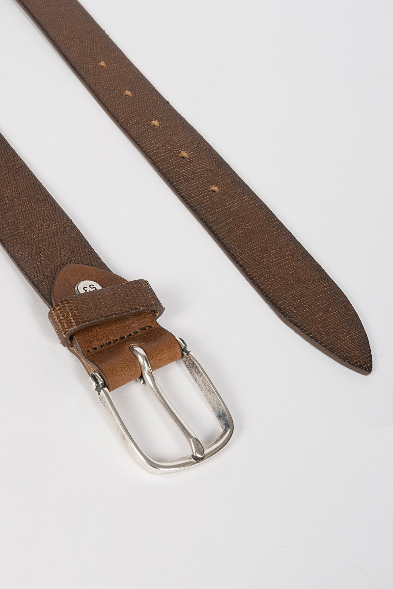 Brown Tobacco Leather Belt