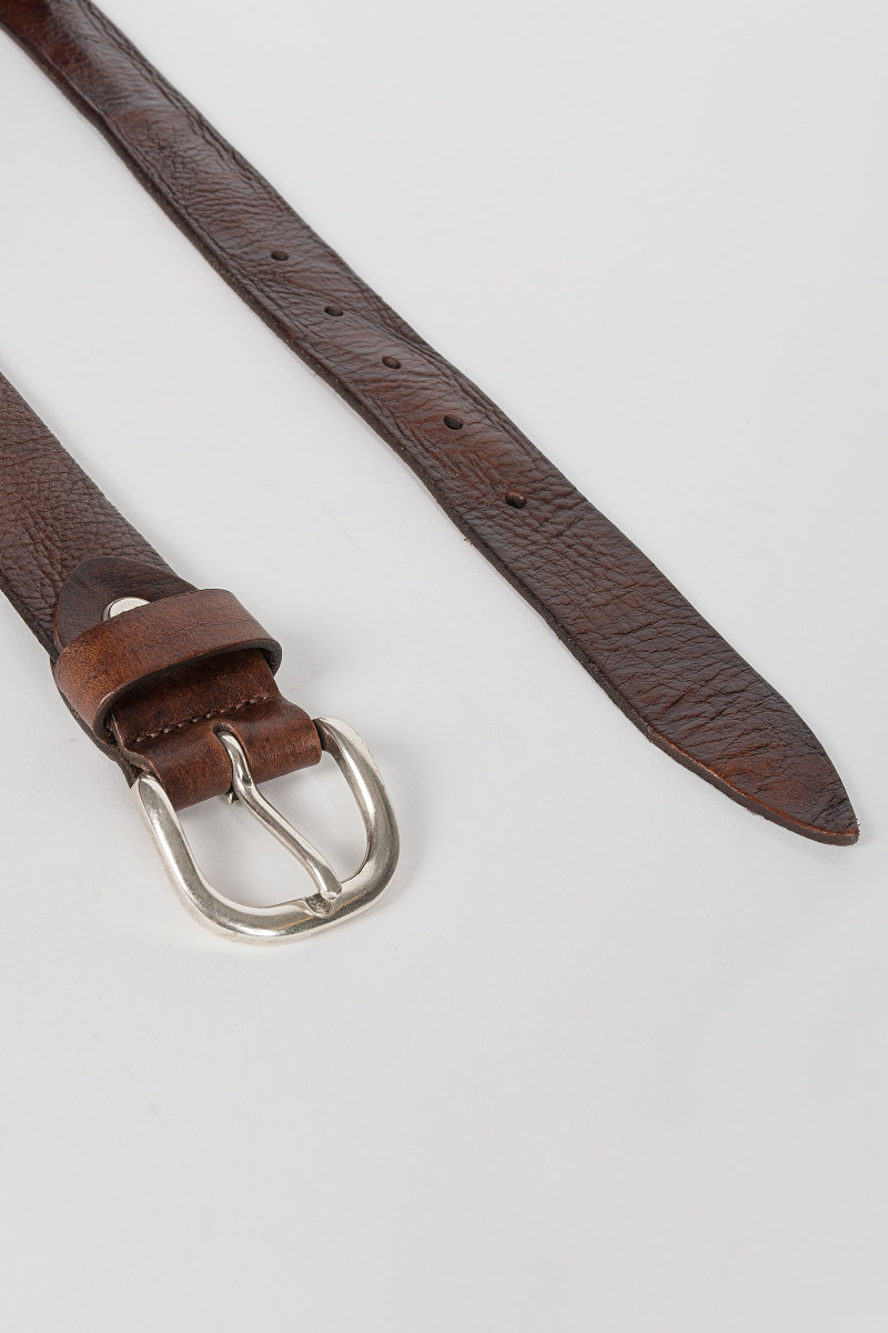 Brown Polish Leather Belt cover