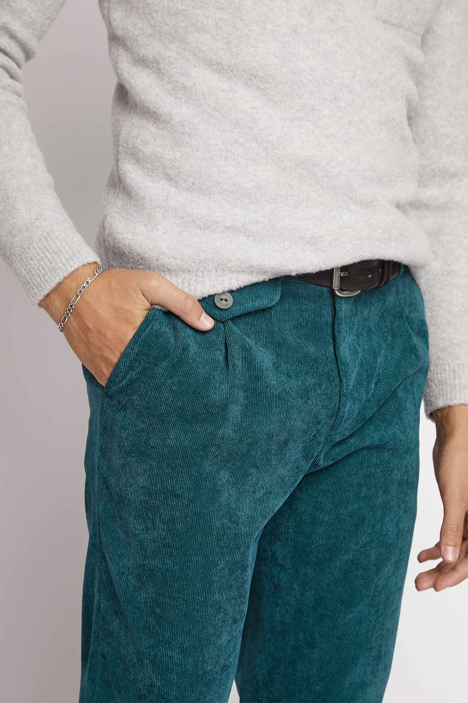 Turquoise Corduroy Trousers cover