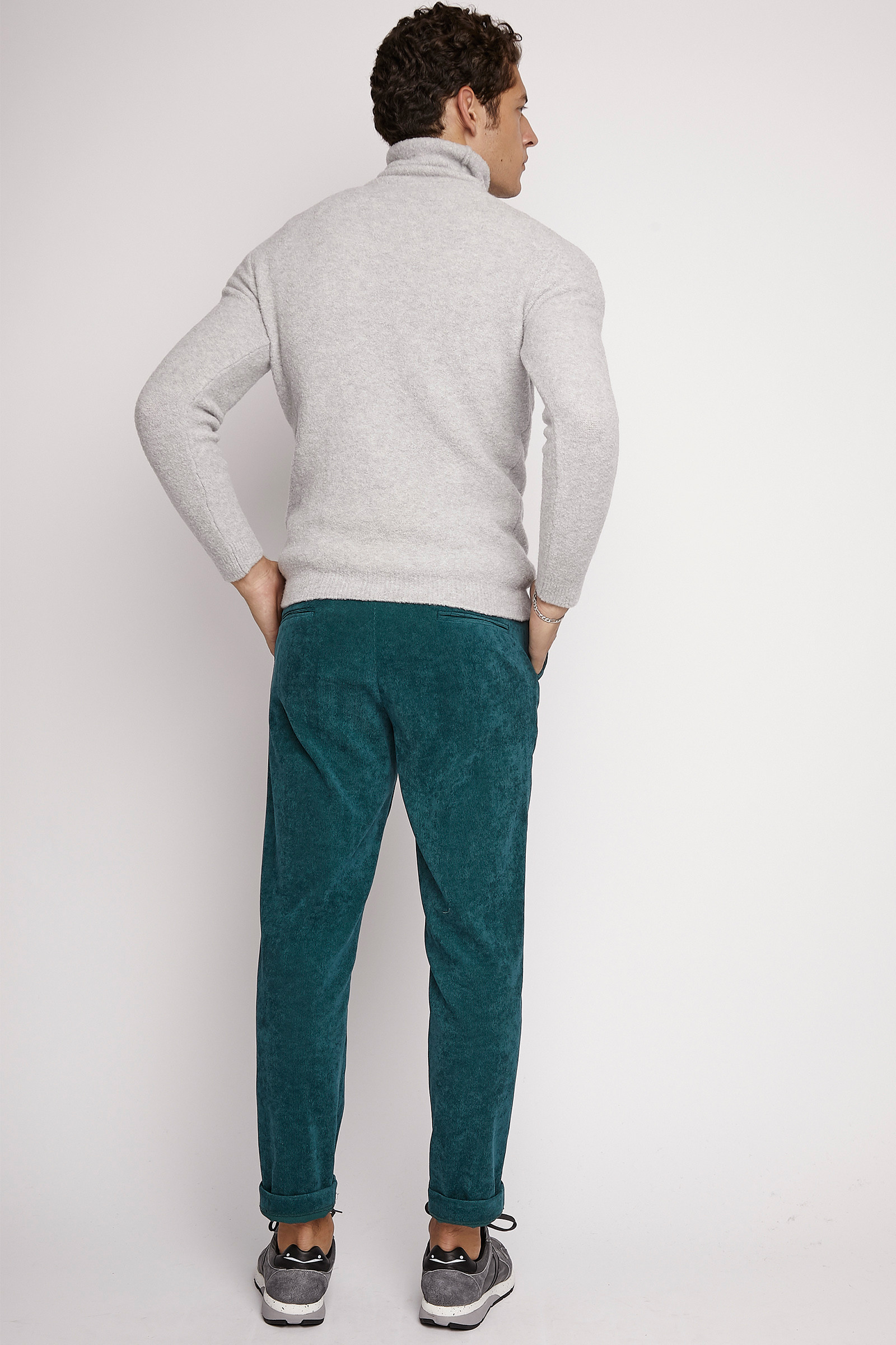Turquoise Corduroy Trousers back