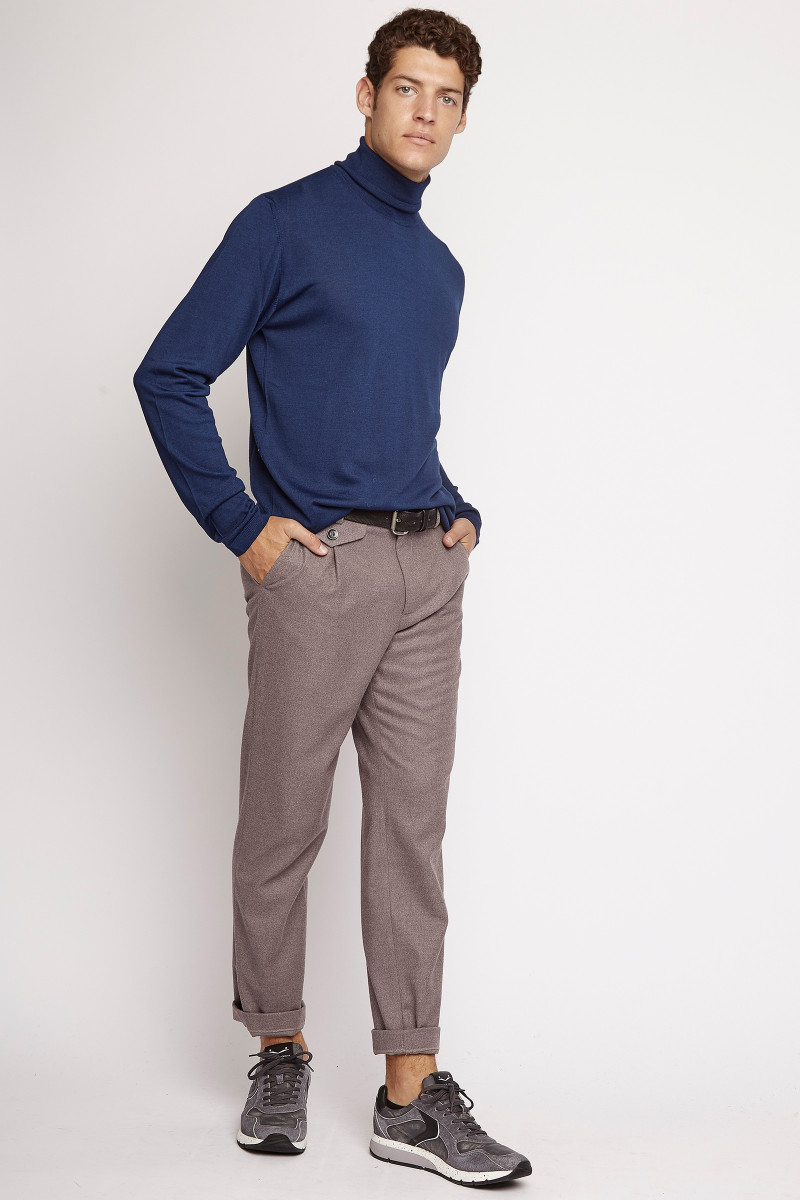 Taupe Wool Trousers cover