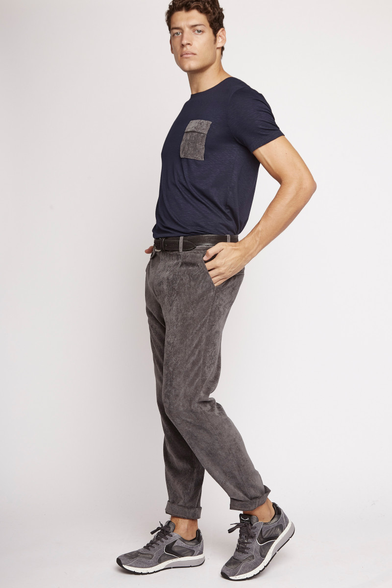 Light Gray Corduroy Trousers cover