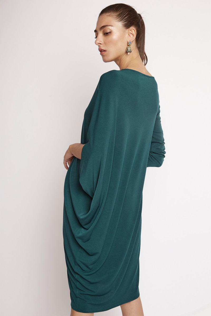 Green Asymmetric Dress cover