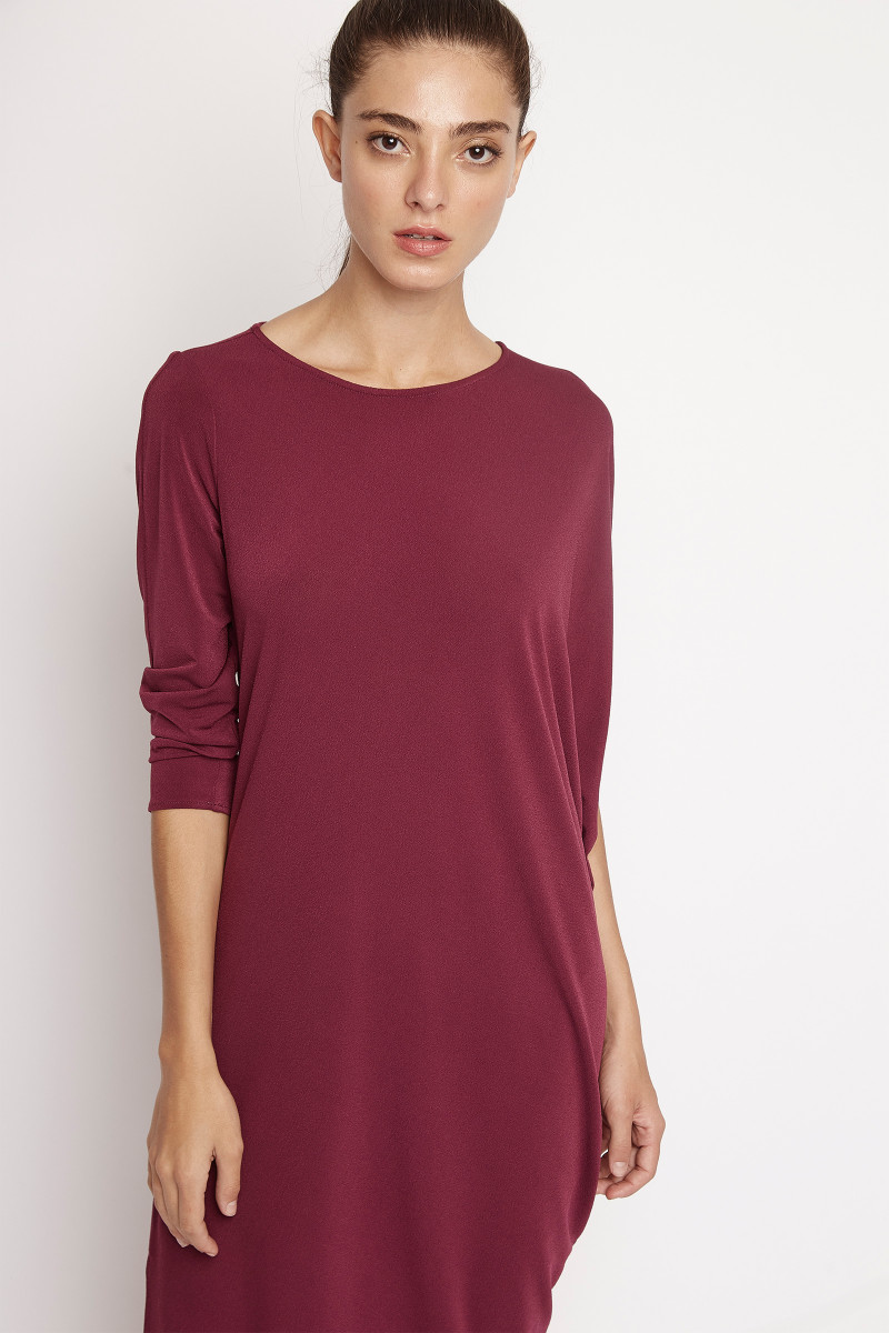 Burgundy Assymetric Dress cover