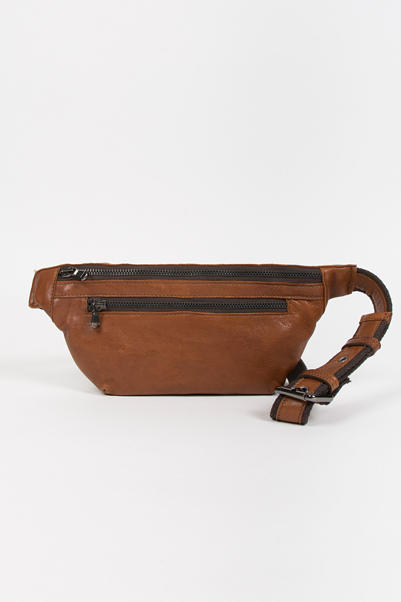 Cognac Leather Fanny Pack cover