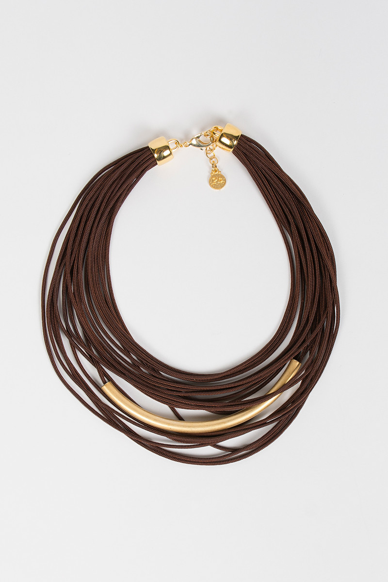 Brown Laces Nacklace cover