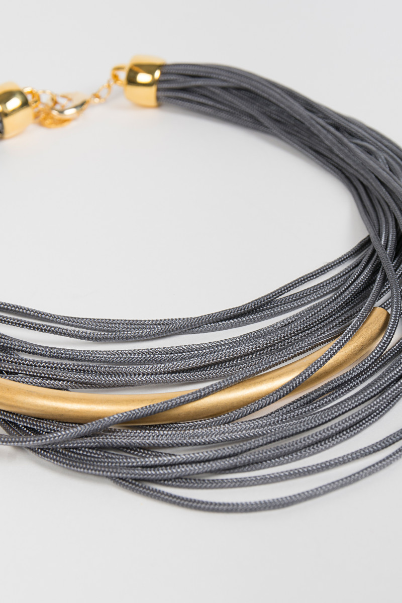 Gray Laces Necklace cover